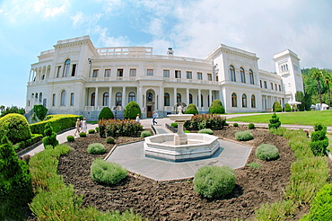 Facade of the Grand Livadia Palace - summer palace of the last Russian Imperial family, The Greater Yalta, Crimea, Ukraine, Eastern Europe.