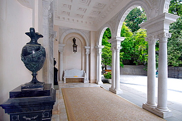 Entrance to the Grand Livadia Palace - summer palace of the last Russian Imperial family.