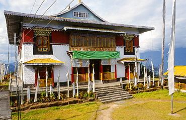 17th century Pemayangtse monastery at Sikkim, India