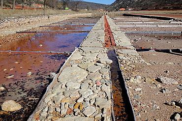 Medieval salt mines. Saelices de la Sal, Guadalajara, Spain.