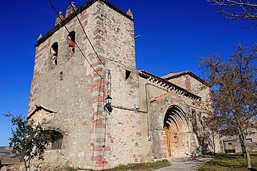 Romanesque parish church. Riba de Saelices, Guadalajara, Spain.