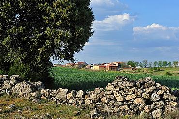 Small village in the Alto Tajo Natural Park. Huertahernando, Guadalajara, Spain.
