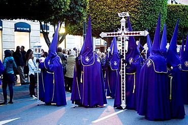 Capuchins at Easter. Almeria, Spain