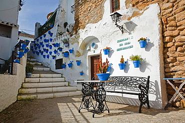 the courtyard of the comedies, Iznajar, Cordoba province, Andalucia, Spain.
