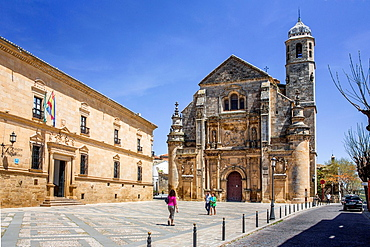 Spain, Andalucia Region,, Jaen Province,Ubeda City (W.H.), Vazquez de Molina Square, Holly Church of the Savior (Iglesia del Salvador).