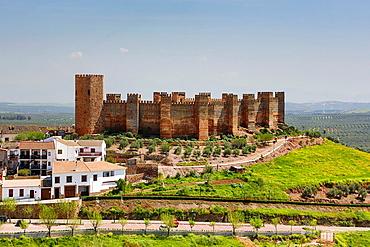 Spain, Andalucia Region,, Jaen Province, Banos de la Encina City, Banos de la Encina Castle.
