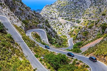 Spain, Mallorca Island, Sa Calobra Road.