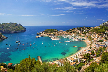 Spain, Mallorca Island, Port of Soller City.