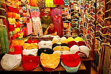 Selling ladies underwear in the souk, Homs, Syria