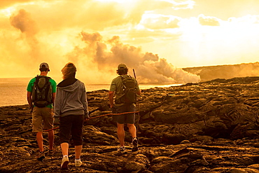 Kilauea Lava Flow, Kalapana, Big Island, Hawaii, USA