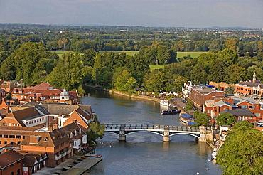 Windsor, panorama, Thames river, Berkshire, UK