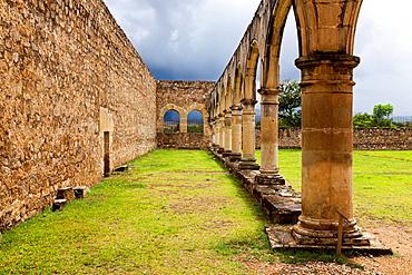 Unfinished Cuilapam Temple at Cuilapam de Guerrero, Oaxaca, Mexico.