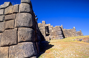 Saqsayhuaman, inca fortification. Sacred Valley. Cuzco area. Peru