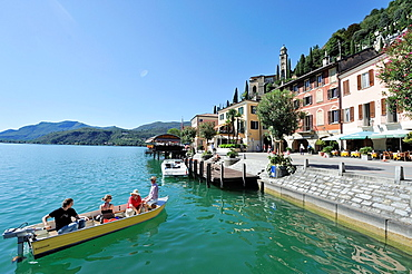 Morcote, lakefront, is a municipality in the Swiss canton of Ticino situated about 10 kilometres from Lugano in the district of Lugano on the shore of Lake Lugano, Switzerland.