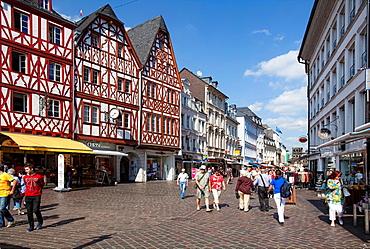 Hauptmarkt square, Trier, Rhineland-Palatinate, Germany, Europe.