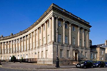 Royal Crescent, Bath, England.