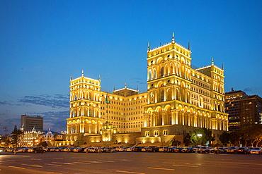 Azerbaijan, Baku City, The Government House.