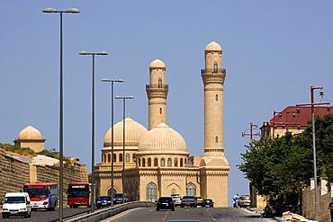 Azerbaijan, Baku City, Bibi-Heybat Mosque.