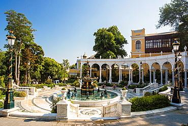 Azerbaijan, Baku City, Philharmoni Bldg., The Back Gardens.