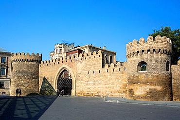 Azerbaijan, Baku City, Old Baku City (W.H.), Western Walls.