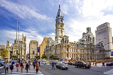 USA ,Pennsylvania, Philadelphia City,City Hall Bldg. , John F. Kennedy Avenue.