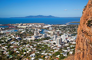 Australia, Queensland, Townsville, view from Castle Hill