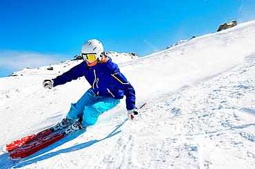 Skier going downhill