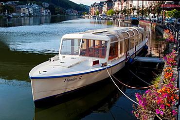 Europe, Belgium, Dinant, Wallonia, River Meuse.