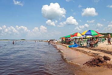Acutuba beach along the Rio Negro, Amazon river basin, Amazonas state, Brazil, South America