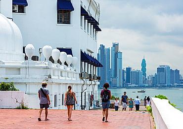 Esteban Huerta Seafront, Old Town, Panama City, Panama, Central America, America