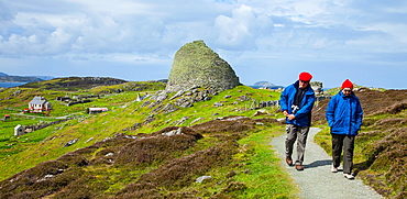 Dun Carloway broch monument, Isle of Lewis, Outer Hebrides, Scotland, UK