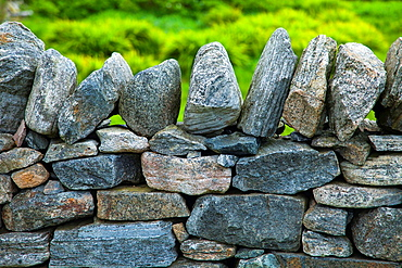 Traditional wall, Isle of Lewis, Outer Hebrides, Scotland, UK