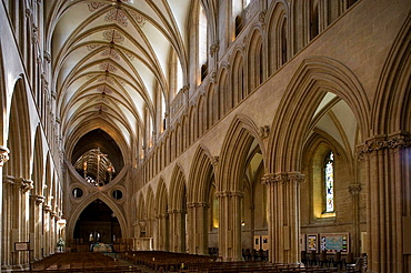 Wells, Cathedral, West Front, Somerset, UK.