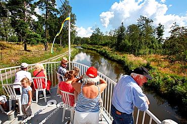 Gota Kanal river cruise. Vastra Gotaland county, Sweden.