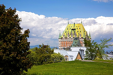 Partial view of Chateau Frontenac from the Citadel, Quebec City, Quebec, Canada.