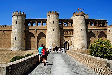La Aljaferia Zaragoza, Aragon, Autonomous Community of Aragon, Ebro Valley, Spain, Europe