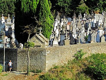 Carcassonne Cemetery. Languedoc, Rousillon, France, Europe.