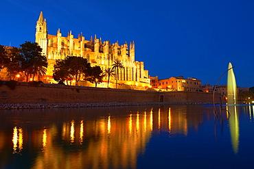 Palma de Mallorca, Cathedral, La Seu cathedral, Palma, Majorca, Balearic Islands, Spain, europe.
