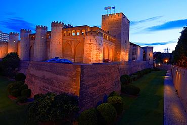 Zaragoza, Aljaferia Palace. Cortes de Aragon autonomous parliament, Saragossa, Aragon, Spain.