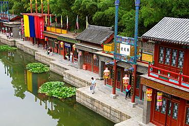 Suzhou Market Street, Yiheyuan Summer Palace, Beijing, China.