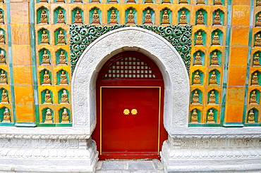 Facade detail of Realm of Multitudinous Fragrance in Yiheyuan Summer Palace, Beijing, China.
