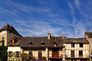 Najac, les plus beaux Villages de France Aveyron, Midi-Pyrenees, France.