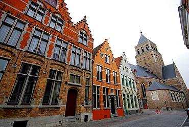 Church in Moerstraat, in Bruges, Belgium