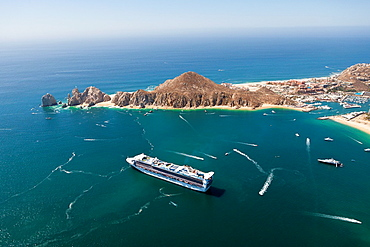 Cruise Ship at Cabo San Lucas, Cabo San Lucas, Baja California Sur, Mexico.