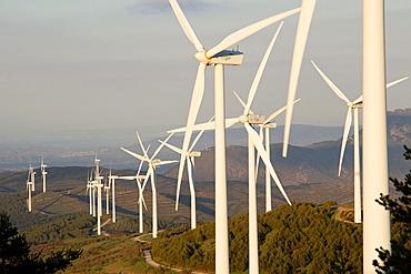 Wind power mills in La Rioja