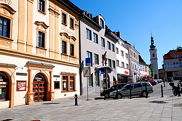 View over the market square of Klatovy