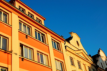Old houses on the market square in Klatovy