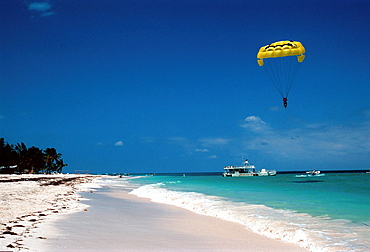 Paragliding on the beach of Punta Cana / Dominican Republic