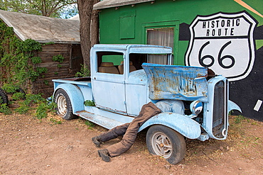 Out along historic Route 66, Seligman, Arizona.