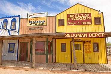 Wild West recreation along historic Route 66, Seligman, Arizona.